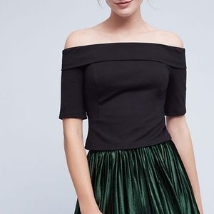 Anthropologie Deletta Ponte Off-the-Shoulder Top